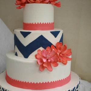 Red Baby Shower Cake