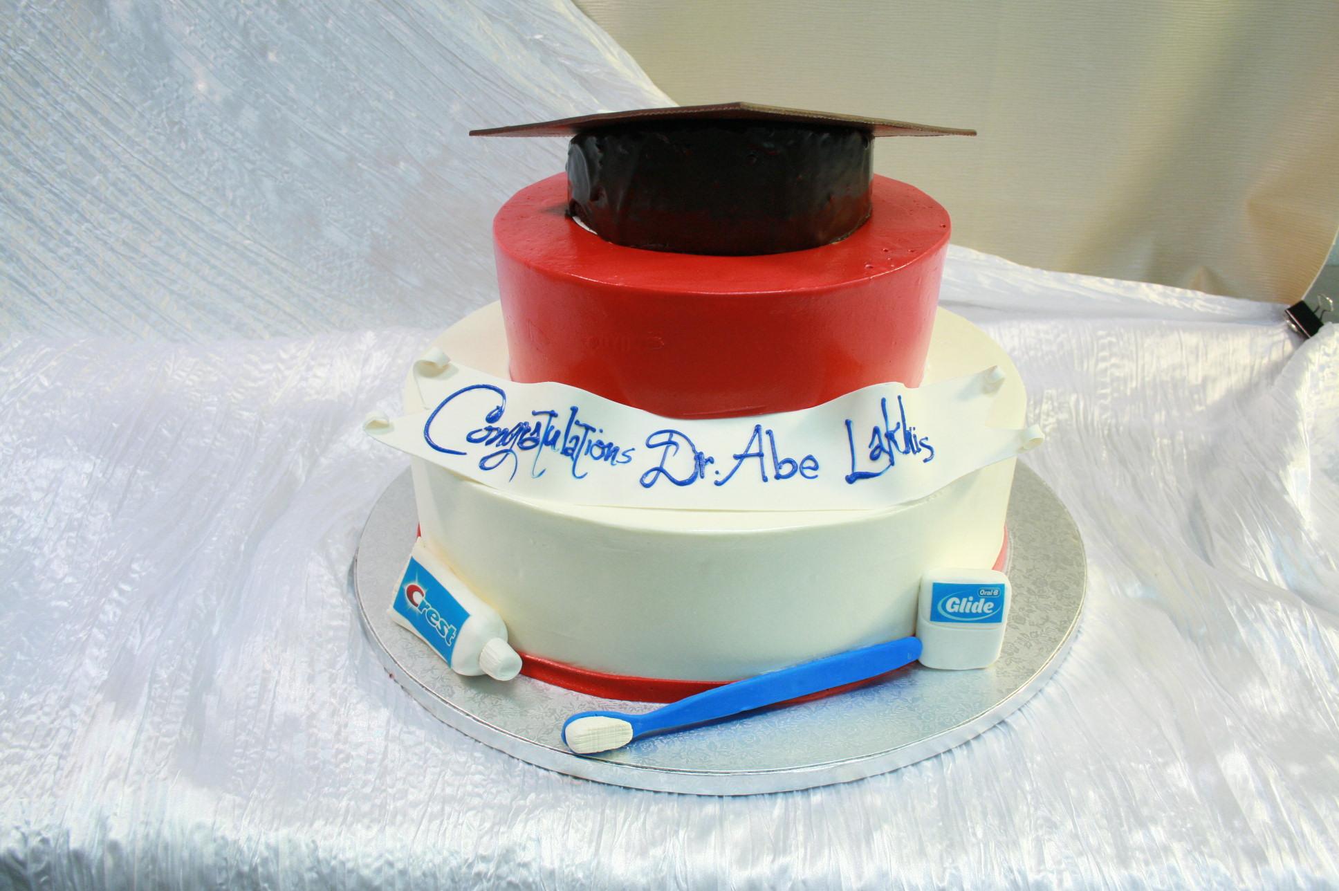 Custom Dentist Graduation 2 Tier